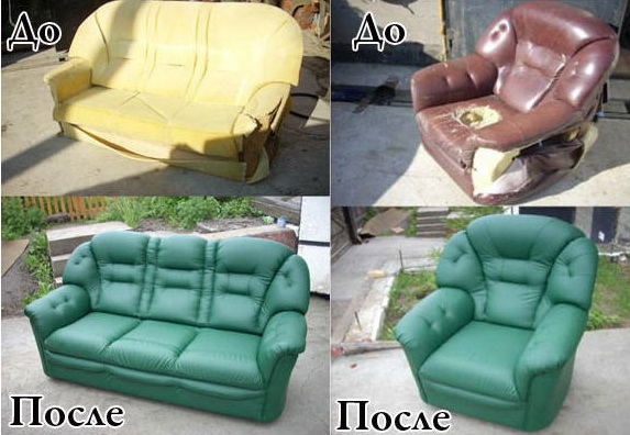 Перетяжка старой дивана своими руками